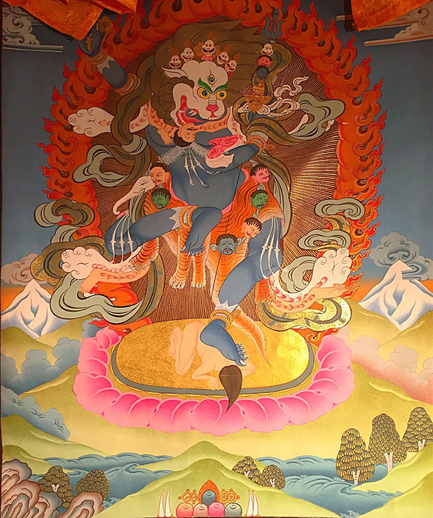 The Lion-Headed Dakini (Simhamukha)The Lion-Headed Dakini (Simhamukha)