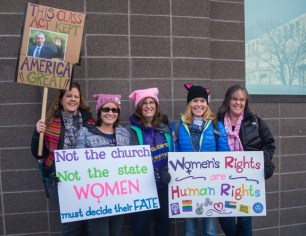 January 21, 2017; Denver, CO, USA; Women's March in Denver as part of a global proclamation that denigration of anyone's human rights will not be tolerated. The March was an effort to send a message of peace, love and understanding to all that will listen. Photo Credit: Al Milligan-KLC fotos
