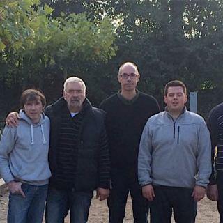 Von links: Frank Engelmann, Michael Stroelau, Joachim Bauch, Hans-Jürgen Barcziewski, Martin Reichert, Tim Robinson, Jean-Marc Bourdoux, Norbert Münch