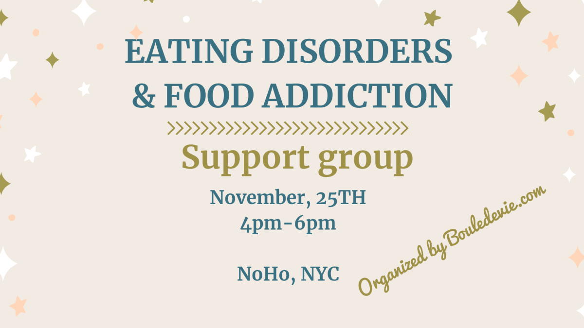 Eating disorders & food addiction : support group in NYC