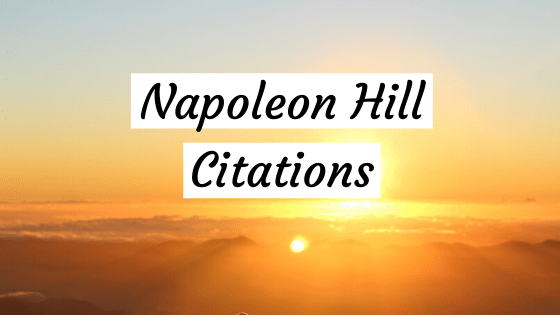 napoleon hill citation