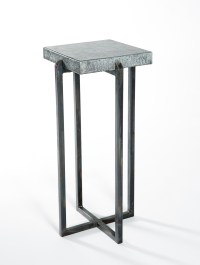 Square Accent Table with Hammered Zinc Top - Boulevard ...
