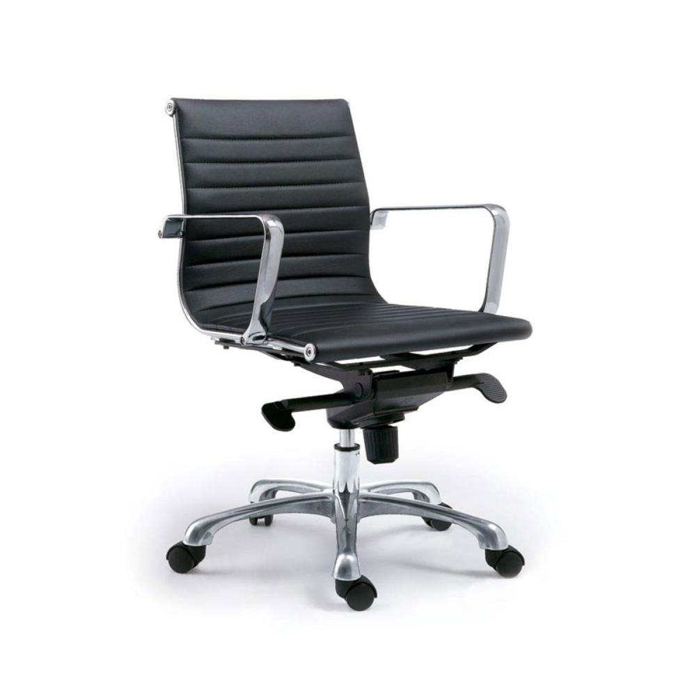 Low Back Office Chair Omega Office Chair Low Back Black M2