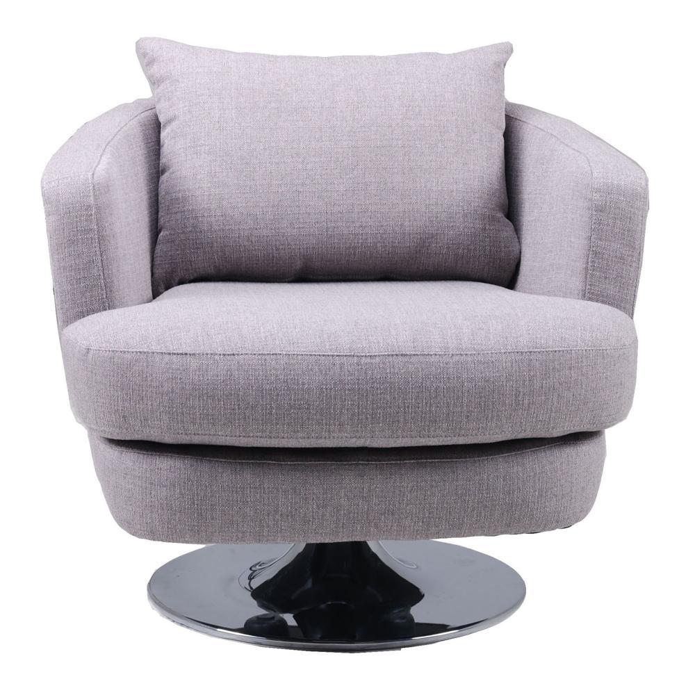Penny Fabric Swivel Chair Grey  Boulevard Urban Living