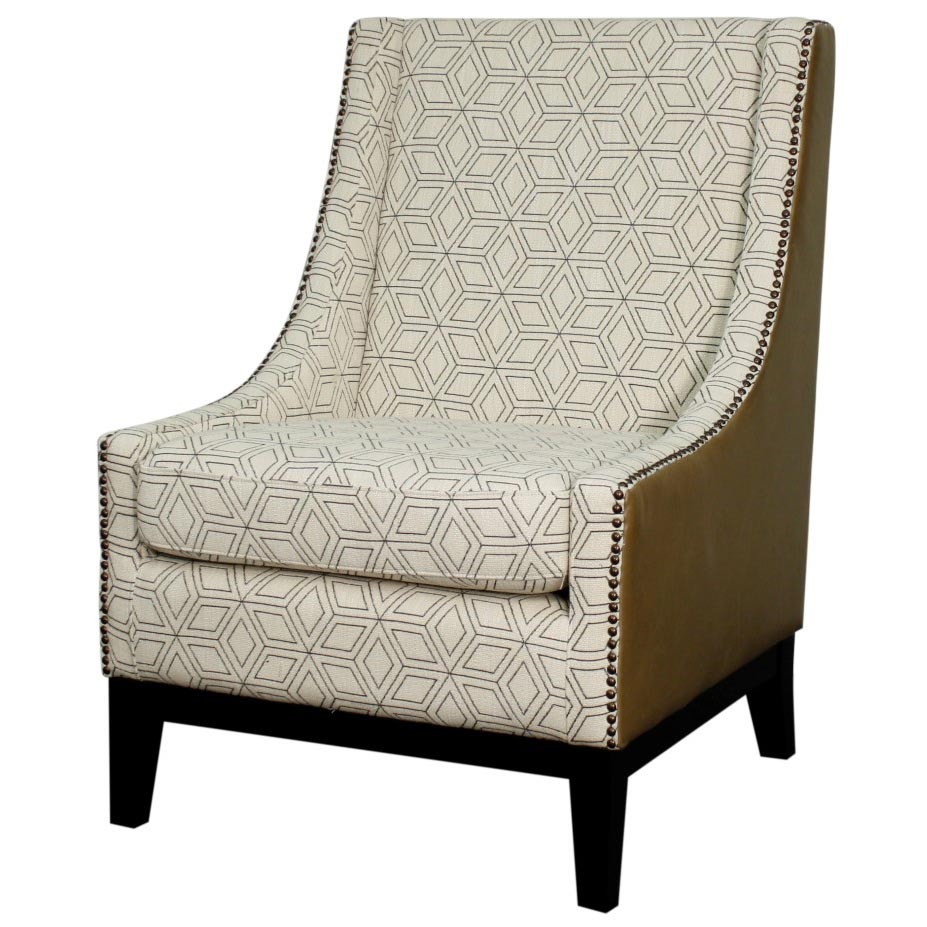 Vintage Accent Chair Harrison Accent Chair Black Legs Geo Diamond Vintage Taupe