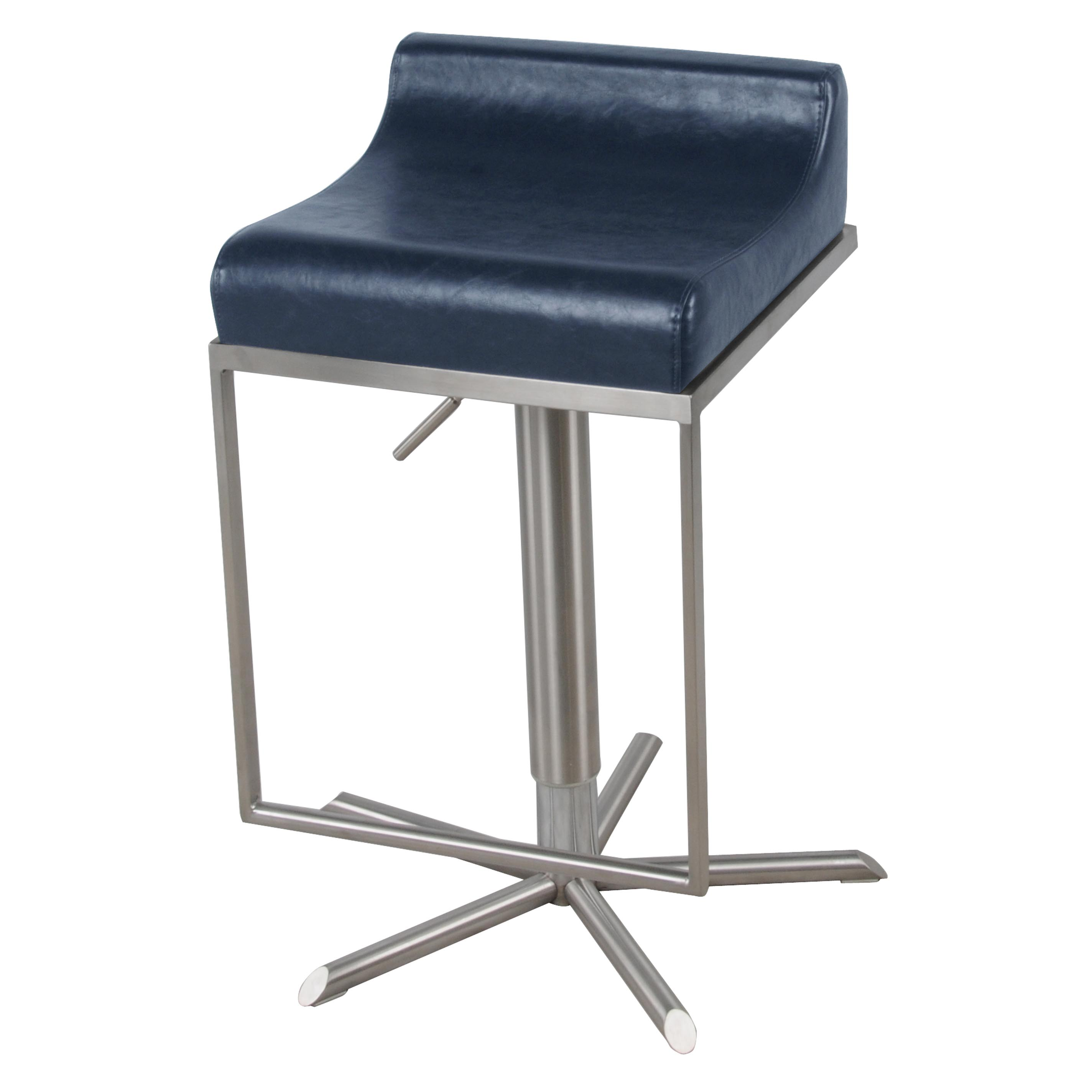zac swivel chair black covers with purple sash pu premium gaslift bar stool vintage blue boulevard