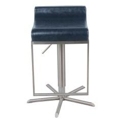 Zac Swivel Chair Desk West Elm Pu Premium Gaslift Bar Stool Vintage Blue Boulevard