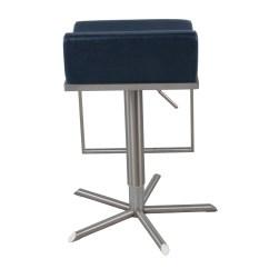 Zac Swivel Chair Pool Float Pu Premium Gaslift Bar Stool Vintage Blue Boulevard
