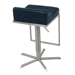Zac Swivel Chair Chairs For Affairs Pu Premium Gaslift Bar Stool Vintage Blue Boulevard