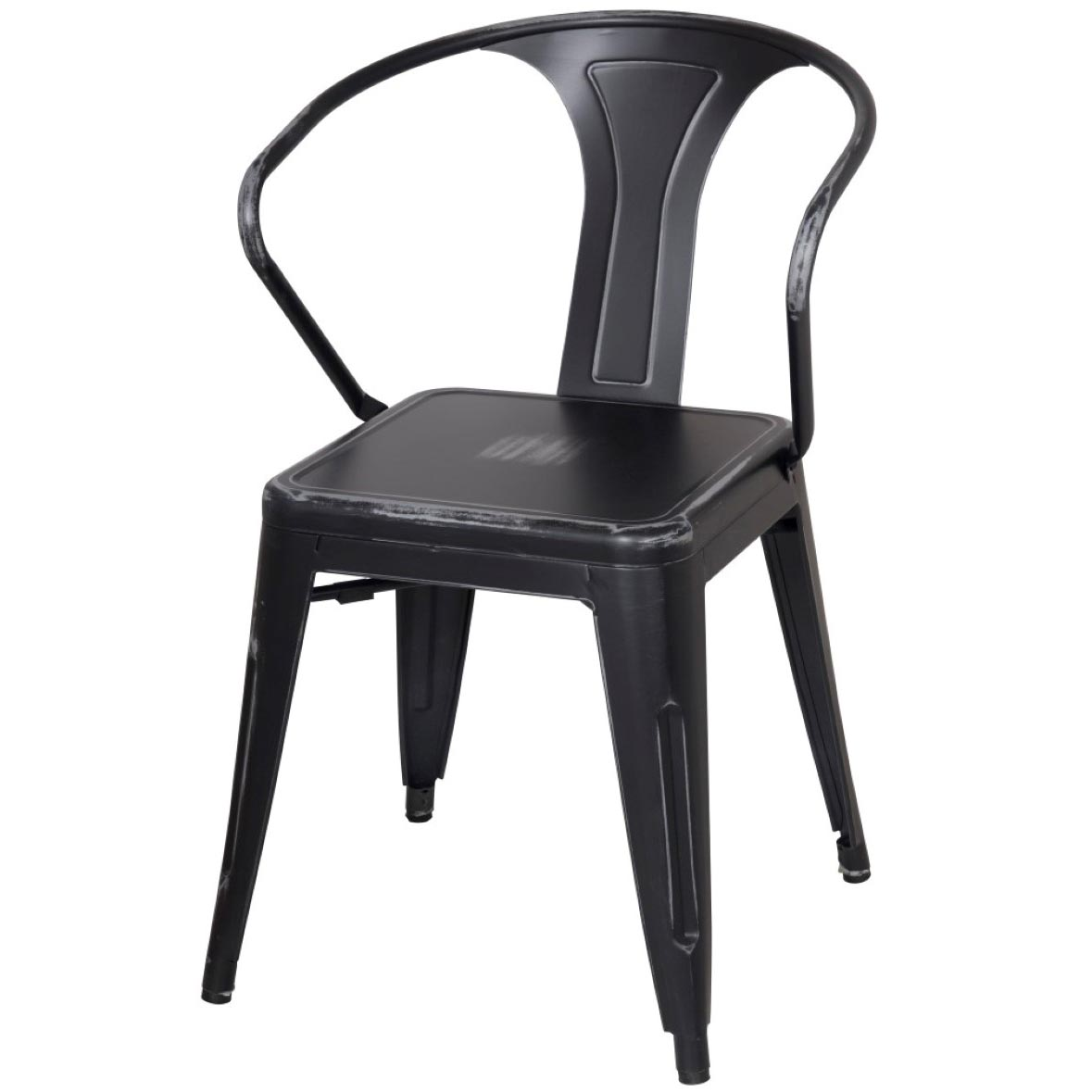 distressed black dining chairs chair cushions metropolis metal arm boulevard urban living