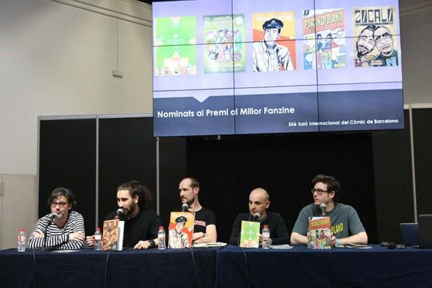 Durante la mesa redonda de los nominados a Mejor Fanzine 2017