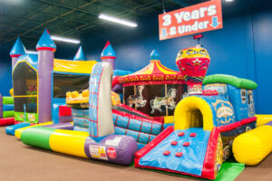 There is a designated play area and bounce house exclusive for toddlers!