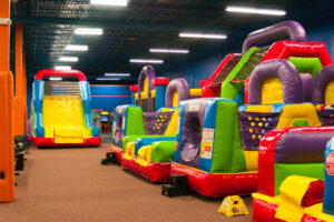 Bounce It Up Indoor Fun Center features Gigantic Fun Inflatables, Slides, Jumps and Obstacle Courses along with the latest coolest FREE Arcade Video Games.