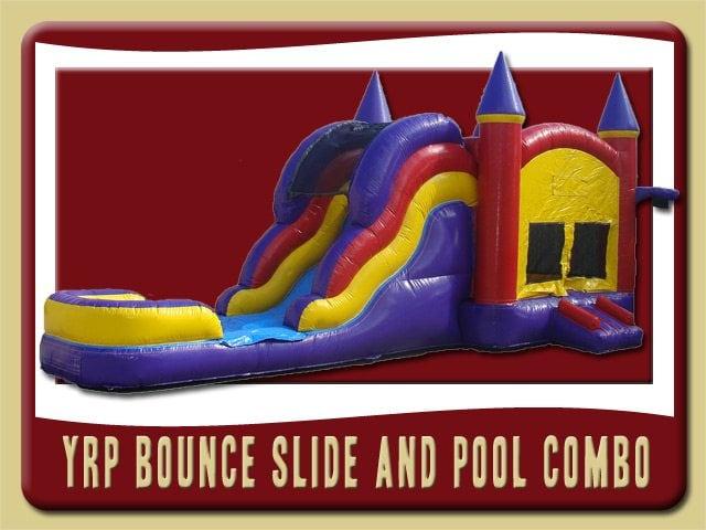 YRP 3in1 Inflatable Moonwalk Water Slide Combo Rental port orange