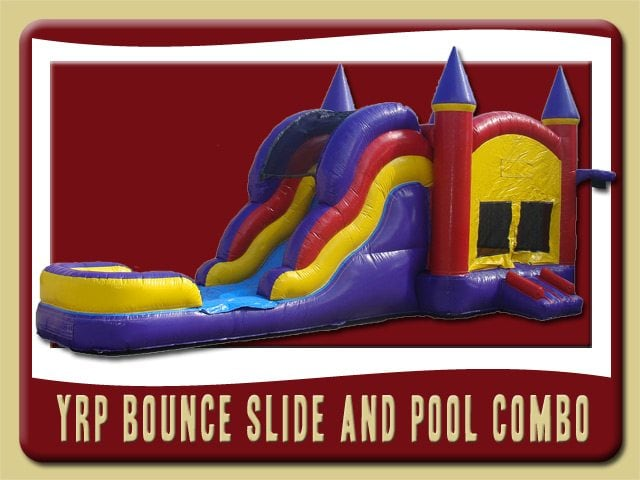 YRP 3in1 Inflatable Moonwalk Water Slide Combo Rental port orange