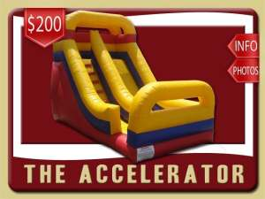 Accelerator Inflatable Slide Rental, Dry, Blue, Yellow, Red
