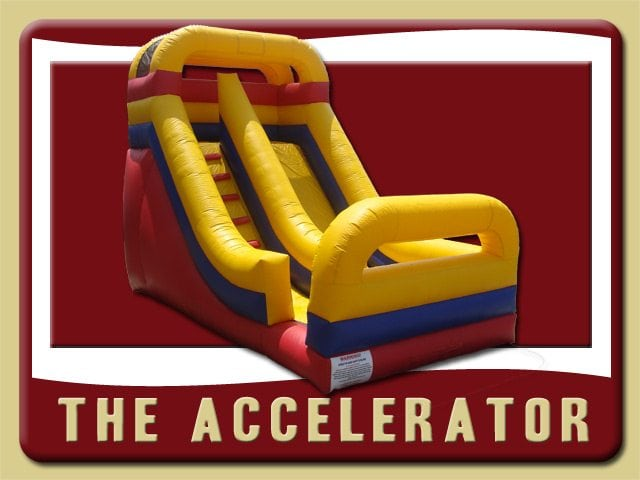 The Accelerator Inflatable Slide Rental Edgewater red yellow blue