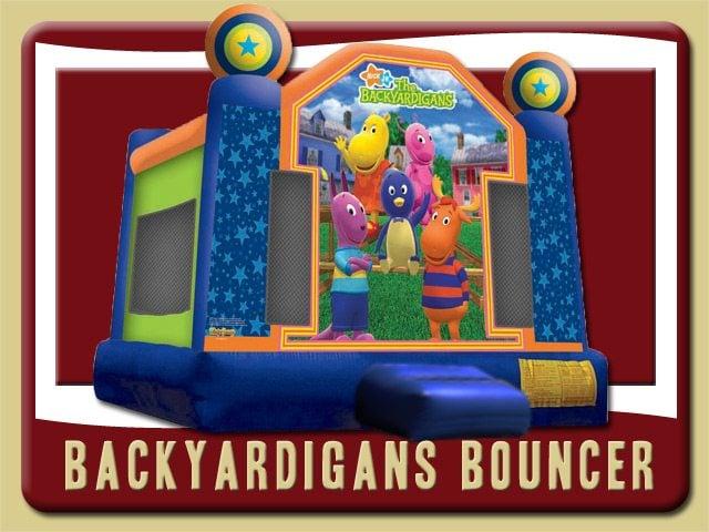 Backyardigans Bounce House Moonwalk Rental Bunnell Uniqua Pablo Tasha Austin Tyrone Blue Green