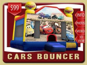 Disney Cars Bounce House Rental, Lightning McQueen, Mater, Red, Blue