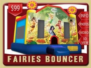 Disney Fairies Bounce House Retnal, Tinkerbelle, Rosetta, Iridessa, Fawn, Silvermist