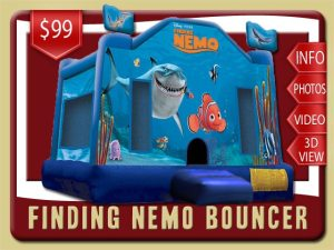 Finding Nemo Bounce House Rental, Sea, Dory, Squirt, Bruce