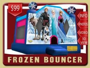 Frozen Bounce House Rental, Olaf, Elsa, Anna, Pink, Blue