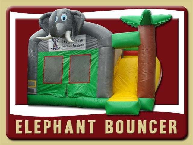 Elephant Bounce House Slide Combo Rental Debary