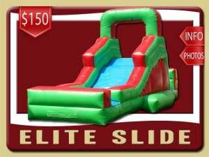 Elite Water Slide Rental, Inflatable, Green, Red