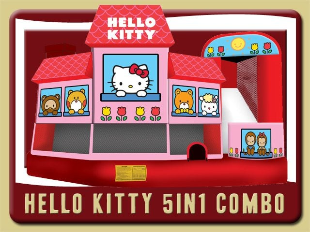 Hello Kitty Bounce House Water Slide Combo Rental Ormond Beach