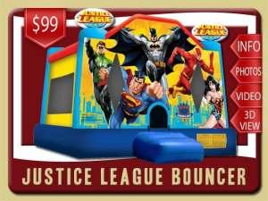 Justice League Bounce House Rental, Superman, Batman, Flash, Wonder Woman