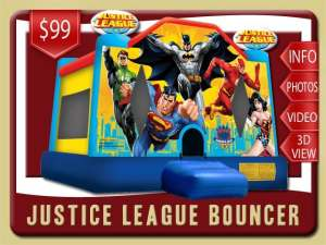 Justice League Bounce House Rental, Superman, Batman, Flash, Wonder Woman