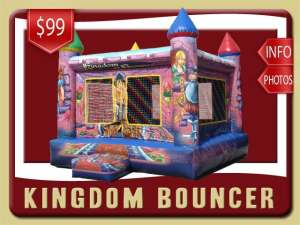 Kingdom Bounce House, Princess, Knights, Purple, Blue, Girl