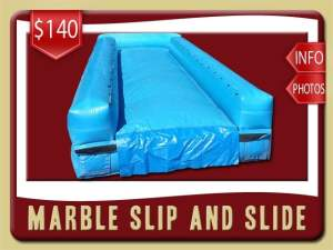 Marble Slip and Slide Rental, Inflatable, Blue, Wet