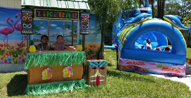 Ocean Water Slide Slip drop Birthday Party Rental Ormond Beach