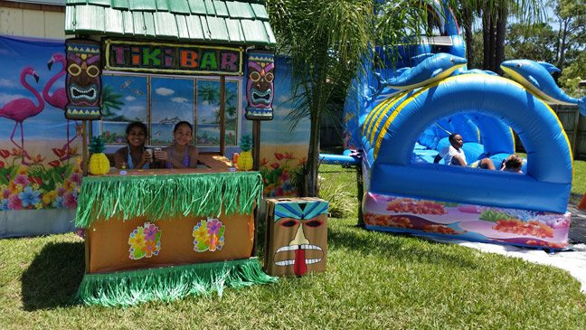 Birthday Party Supplies and Inflatable Water Slide