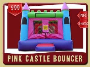 Girl Castle Bounce House Rental, Pink, Purple, Blue, Green