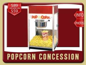 popcorn concession rental de leon springs price red