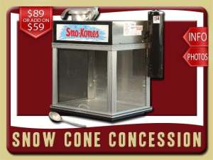 snow cone party food concession rental ponce inlet price shaved iced