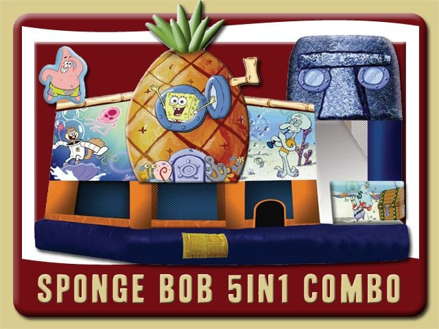 Sponge Bob Bounce House Water Slide Combo Rental Ormond Beach