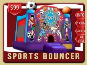 Sports Bounce House Rental, Basketball, Football, Soccer, Baseball