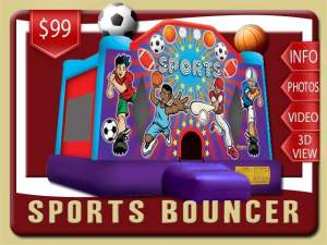Sports Bounce House Rental, Basketball, Football, Soccer, Baseball