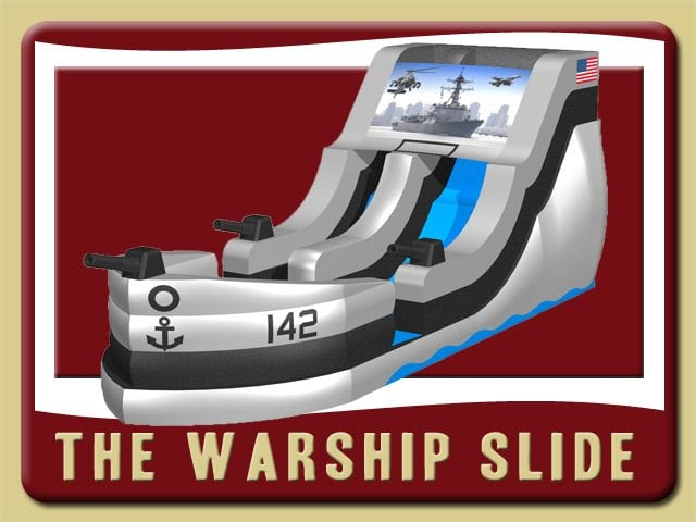 War Ship Navy Water Slide Party Rental De Leon Springs