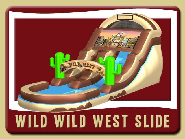 Wild Wild West Cowboy Water Slide Inflatable Rental Daytona Beach