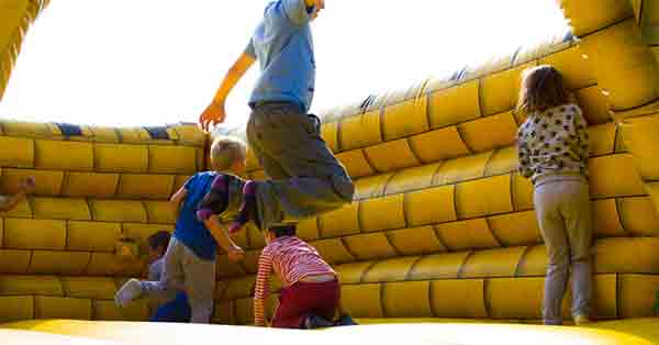 Kids Jumping Castle Bounce House Yellow
