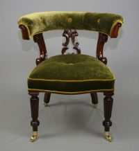 Antique Victorian Mahogany Library Chair - Antique Chairs ...