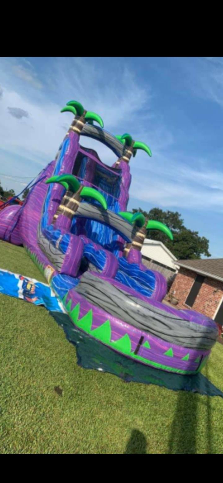 Fun Jumps Lafayette La : jumps, lafayette, Purple, Crush, Water, Slide, Lafayette, Party, Rentals