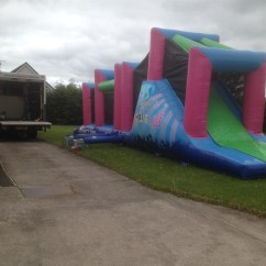 Wedding Chair Covers Hire Northern Ireland Memory Foam Desk 45ft X 12ft Assault Course Bouncy Castle Marquee