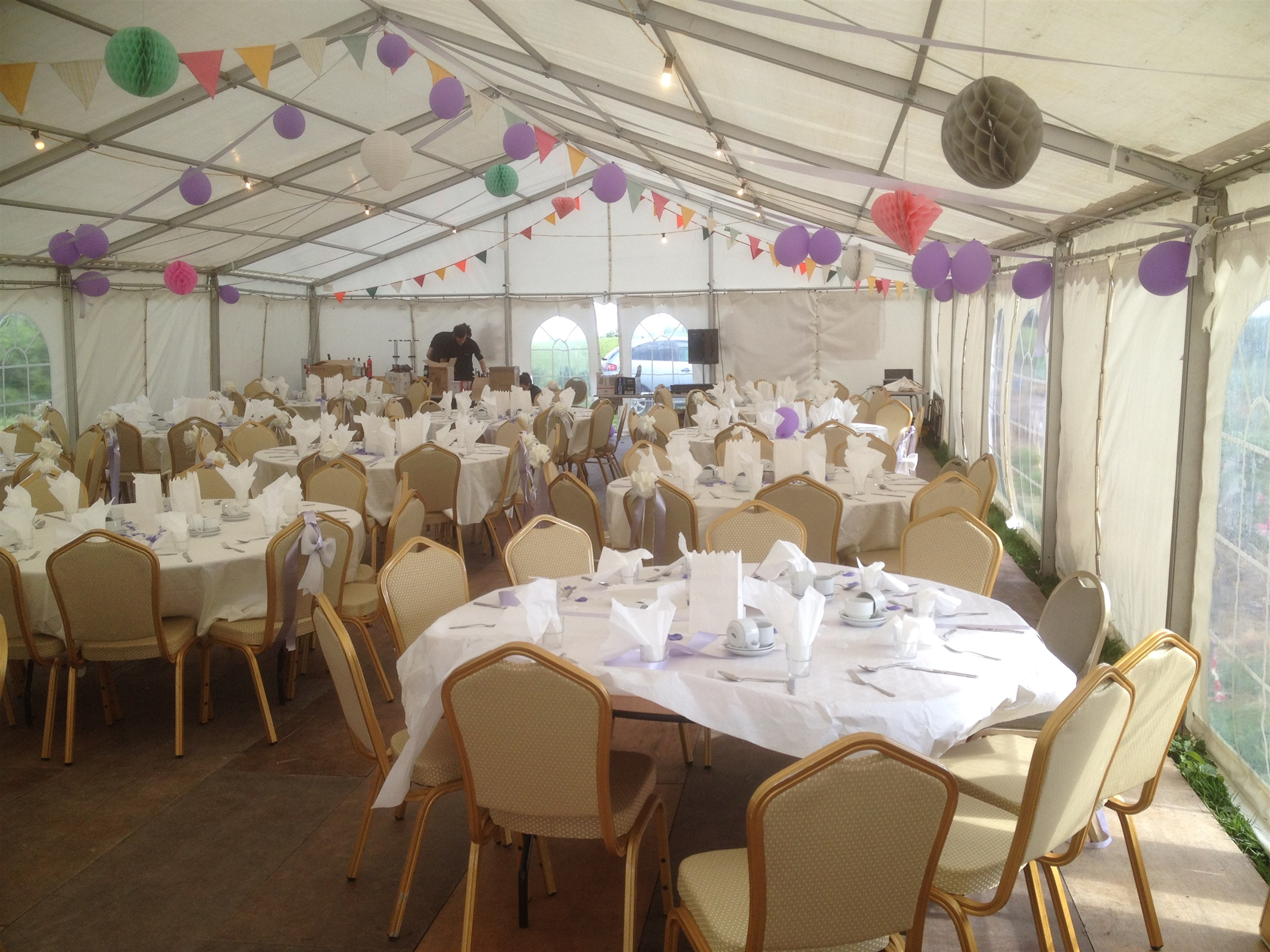 wedding chair covers hire northern ireland childrens folding bed tables and chairs bouncy castle marquee in