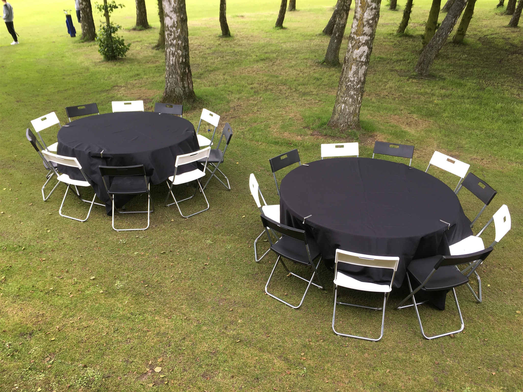 wedding chair cover hire cannock wicker armchair uk black and white chairs bouncy castles in west midlands