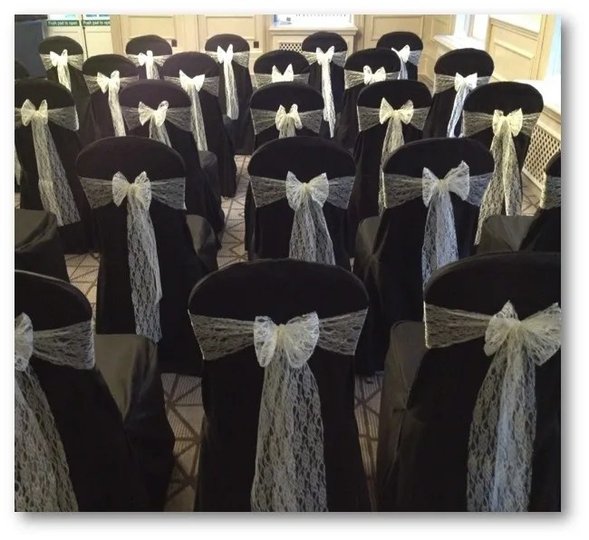 black chair covers to hire pittsburgh steelers loose fitting for company fun days bouncy
